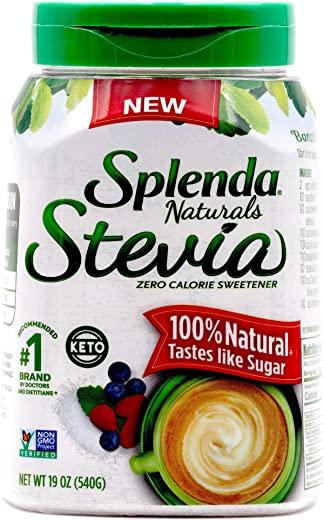 SPLENDA Naturals Stevia Zero Calorie Sweetener 19 Ounce Jar