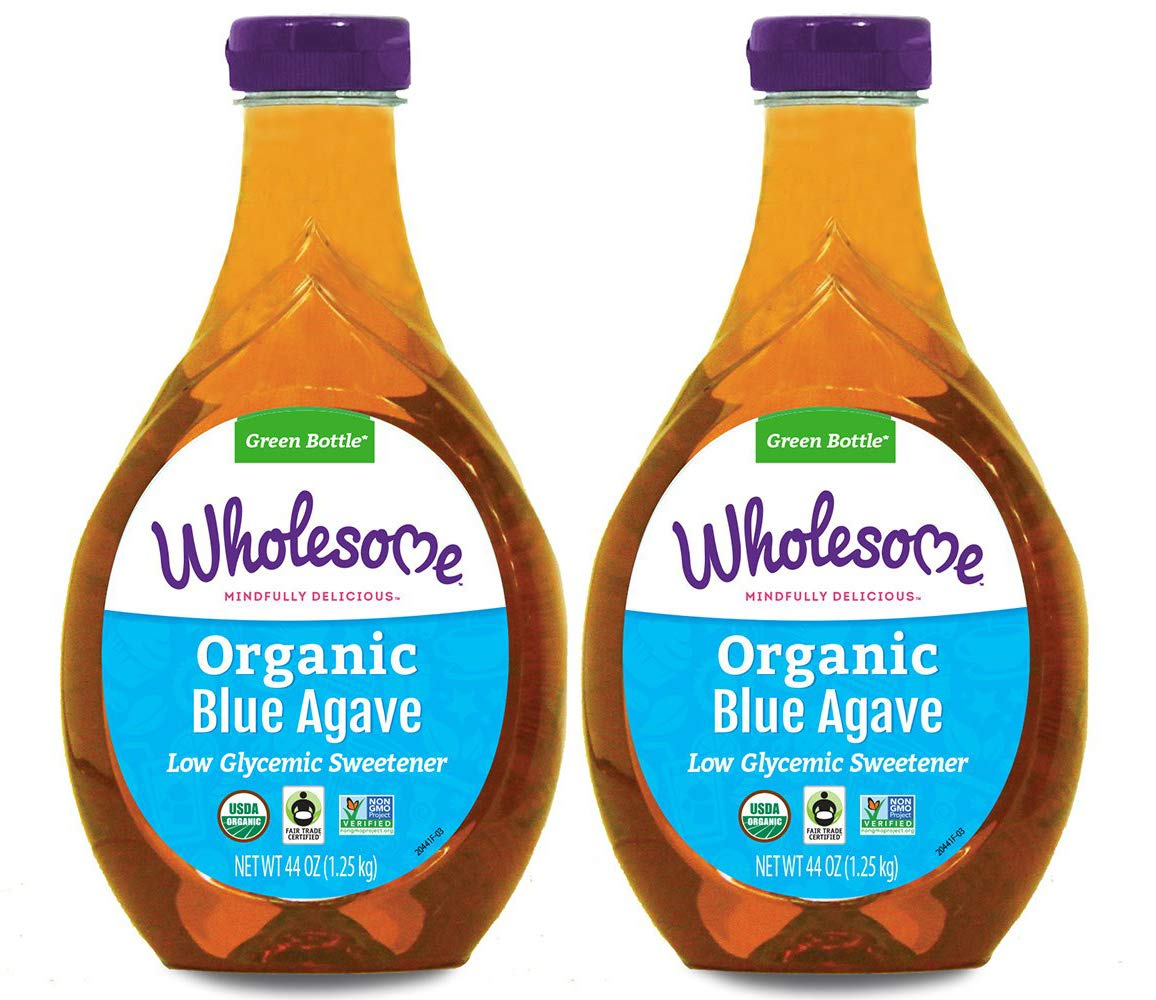 Wholesome Organic Blue Agave Nectar, Natural Low Glycemic Sweetener, Non GMO, Fair Trade & Gluten Free, 44 Ounce (Pack of 2)
